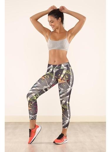 Cool Wear Cool&Wear 21605 Dijital Baskı Yüksek Bel Toparlayıcı Spor Tayt Renkli